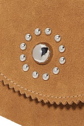 SANDRO Studded suede wallet