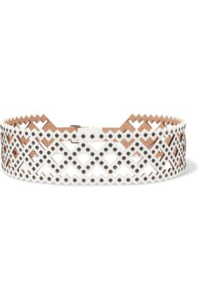 ALAÏA Studded laser-cut leather belt
