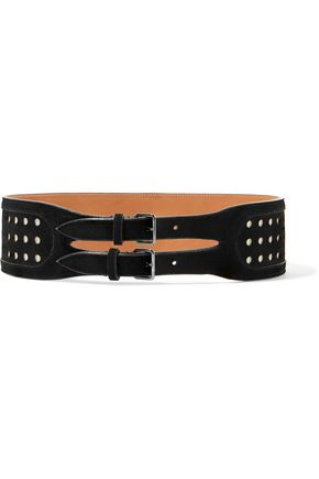 ALAÏA Perforated suede waist belt