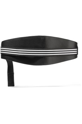 Y-3 + adidas Originals leather and striped canvas waist belt