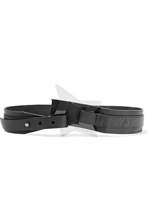 Y-3 Embellished leather belt