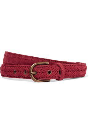 MAJE Woven suede belt