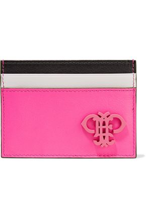 EMILIO PUCCI Color-block leather cardholder