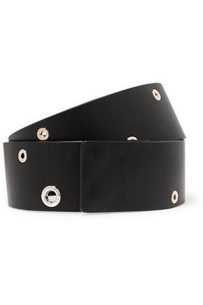 JIL SANDER Eyelet-embellished leather belt