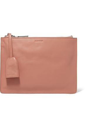 JIL SANDER Belle leather clutch
