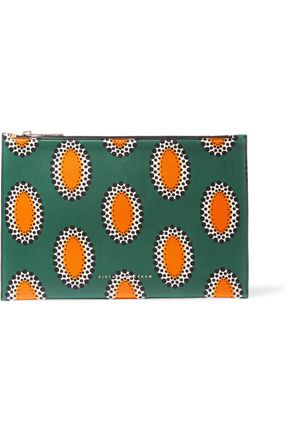 VICTORIA BECKHAM Printed leather pouch