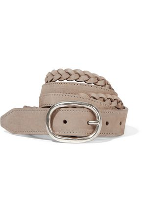 RAG & BONE Braided nubuck belt