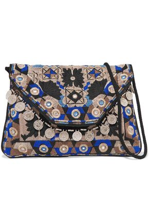 ANTIK BATIK Khana embroidered cotton pouch