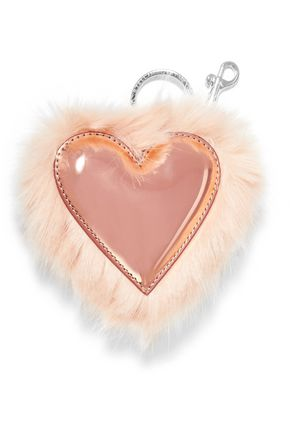STELLA McCARTNEY Faux fur and faux patent-leather keychain