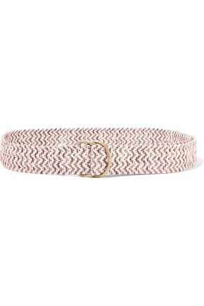 MAJE Anis woven cotton-blend belt