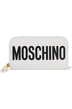 MOSCHINO Printed leather wallet