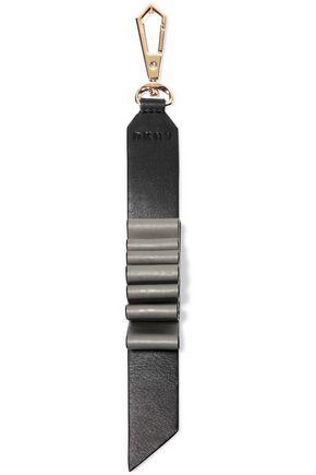DKNY Gold-tone leather keychain