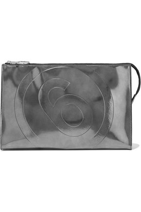 MM6 MAISON MARGIELA Metallic coated faux leather pouch