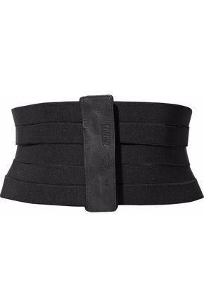 MM6 by MAISON MARGIELA Leather-trimmed stretch-knit waist belt