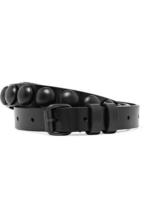 ANN DEMEULEMEESTER Studded leather belt