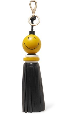 ANYA HINDMARCH Tassel-embellished printed leather keychain