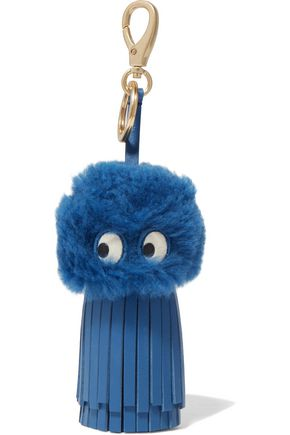 ANYA HINDMARCH Ghost shearling and leather keychain