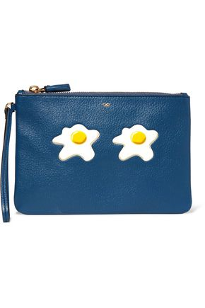 ANYA HINDMARCH Eggs textured-leather pouch