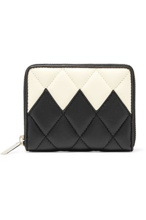 STELLA McCARTNEY Two-tone quilted faux leather wallet