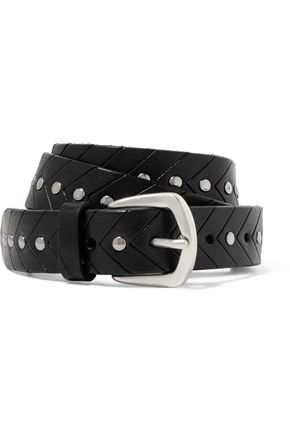 ANDERSON'S Studded leather belt