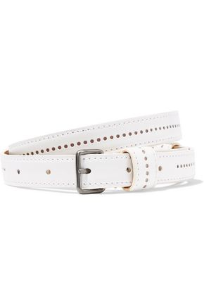ALAÏA Perforated leather belt