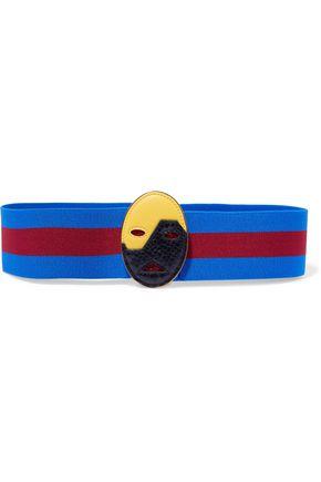 STELLA McCARTNEY Embellished striped twill belt