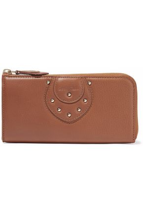 SEE BY CHLOÉ Janis stud-embellished leather wallet