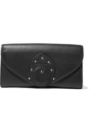 SEE BY CHLOÉ Stud-embellished textured-leather wallet