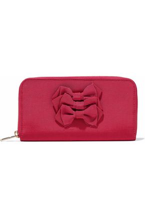 REDValentino Bow-embellished faille wallet