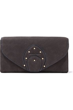 SEE BY CHLOÉ Studded nubuck wallet
