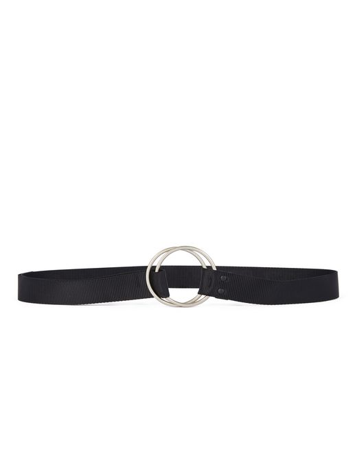 lanvin double buckle belt men