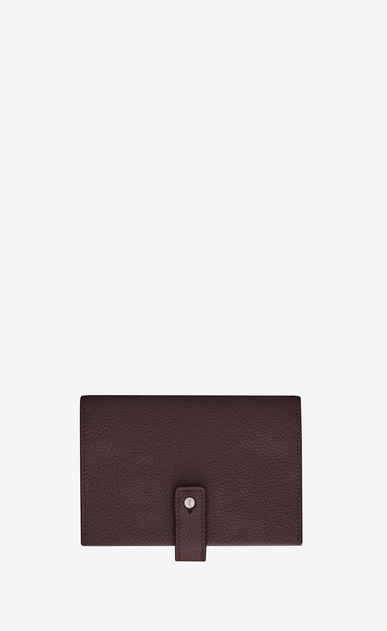 SAINT LAURENT Sac de jour SLG Woman SAC DE JOUR SOUPLE compact wallet in black tulip grained leather a_V4