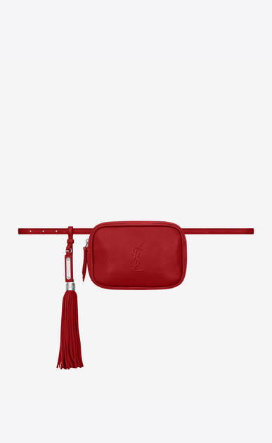 SAINT LAURENT Belt Bags Woman lou belt bag in red leather a_V4