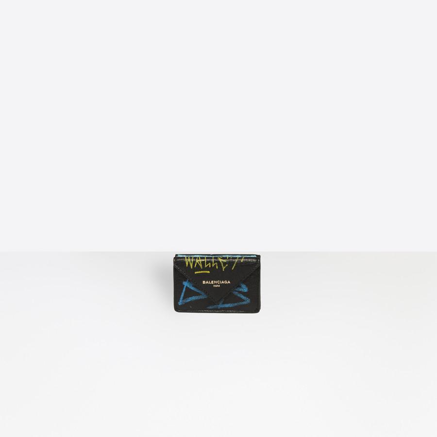 4d51d8755e22 BALENCIAGA Papier Mini Wallet Graffiti Papier wallet Woman f ...
