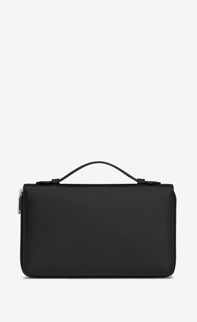 SAINT LAURENT Saint Laurent Paris SLG Man saint laurent paris organizer in black textured leather b_V4