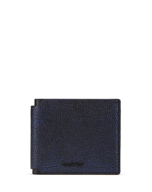 IRIDESCENT GRAINED LEATHER WALLET - Lanvin
