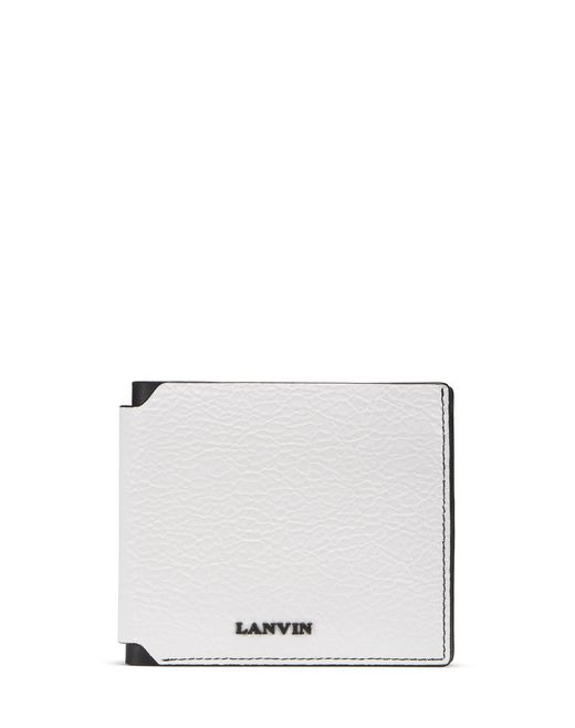 PLASTIC-EFFECT LEATHER WALLET - Lanvin