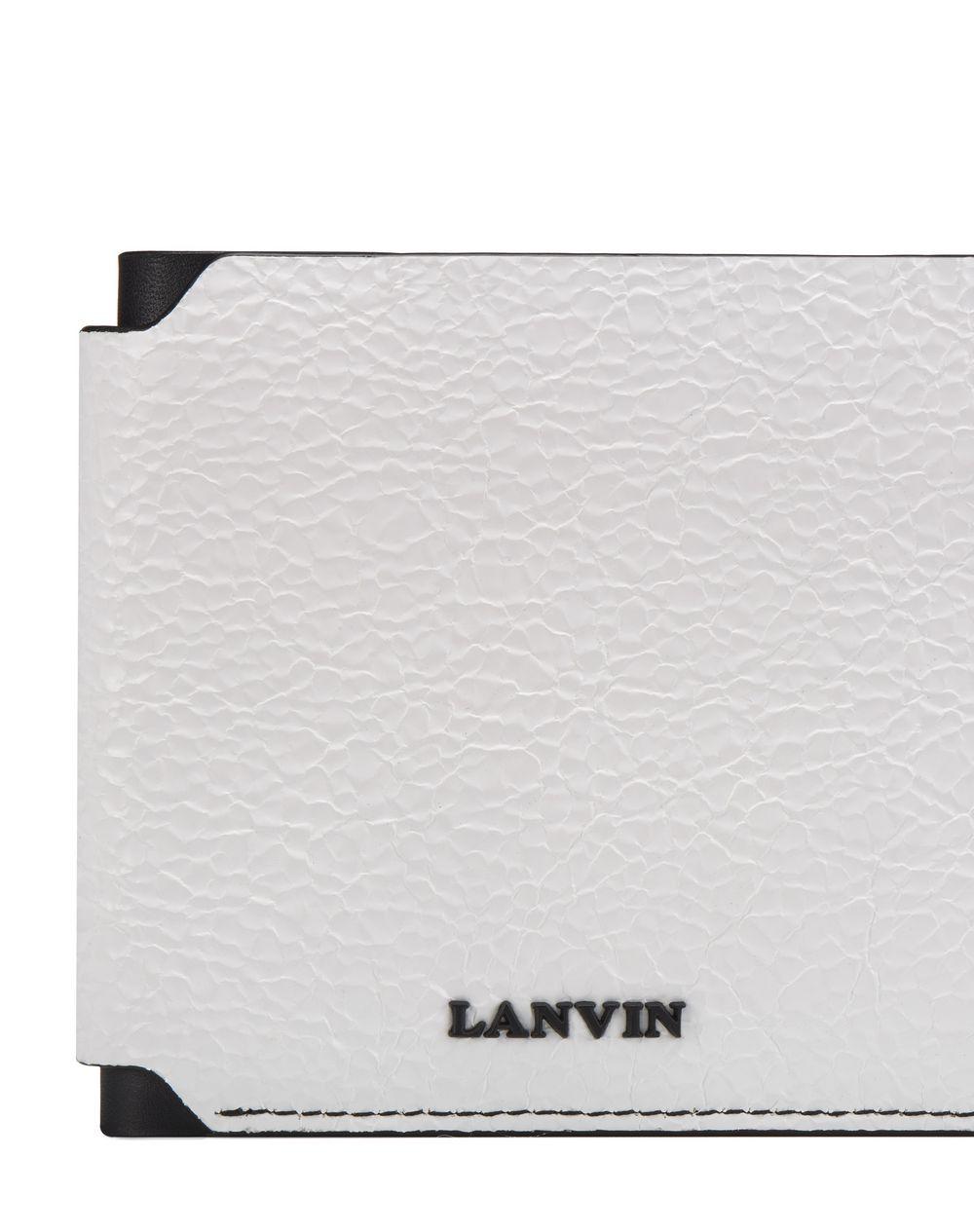 PLASTIC-EFFECT LEATHER WALLET - Lanvin