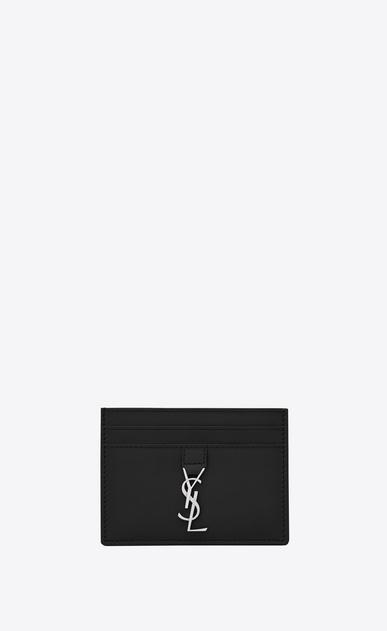SAINT LAURENT YSL line レディース YSLカードホルダー(ブラック/レザー) a_V4