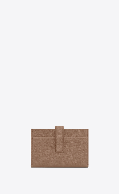 SAINT LAURENT Sac de jour SLG Woman Sac de Jour Souple card holder in dark beige grained leather b_V4