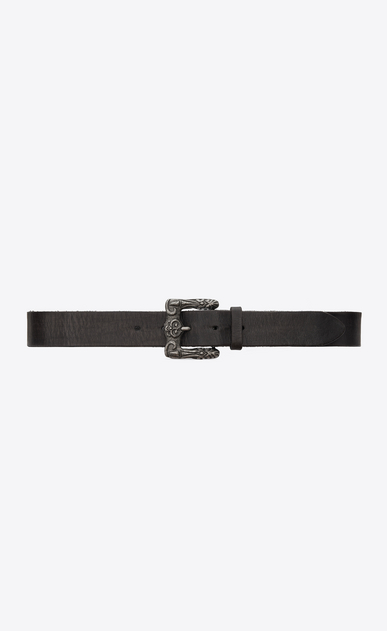 Celtic belt in black vintage leather
