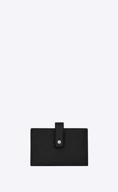 SAINT LAURENT Sac de jour SLG Woman Sac de Jour Souple card holder in black grained leather a_V4