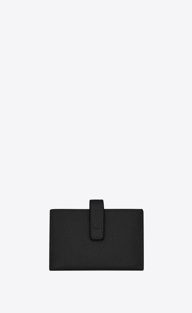 SAINT LAURENT Sac de jour SLG Woman Sac de Jour Souple card holder in black grained leather b_V4
