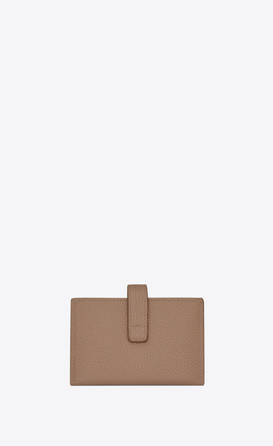 SAINT LAURENT Sac de jour SLG Woman Sac de Jour Souple multiple card holder in dark beige grained leather b_V4