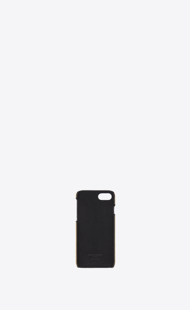 SAINT LAURENT Saint Laurent Paris SLG Femme Etui iPhone 8 en cuir lamé craquelé b_V4