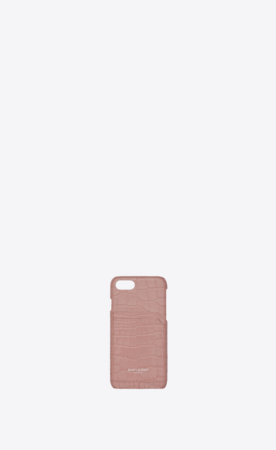 iPhone 8 case in crocodile embossed shiny leather