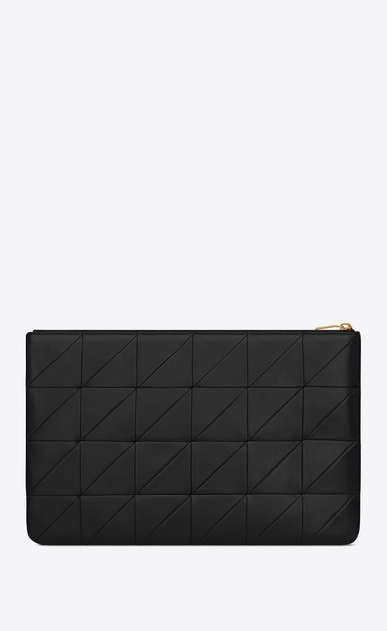 SAINT LAURENT Jamie SLG Femme Porte-document JAMIE en cuir patchwork Noir b_V4