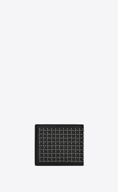 SAINT LAURENT SLP animation Man East/West wallet in leather and studs b_V4