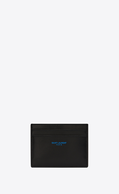 SAINT LAURENT SLP animation Man card case in smooth leather a_V4