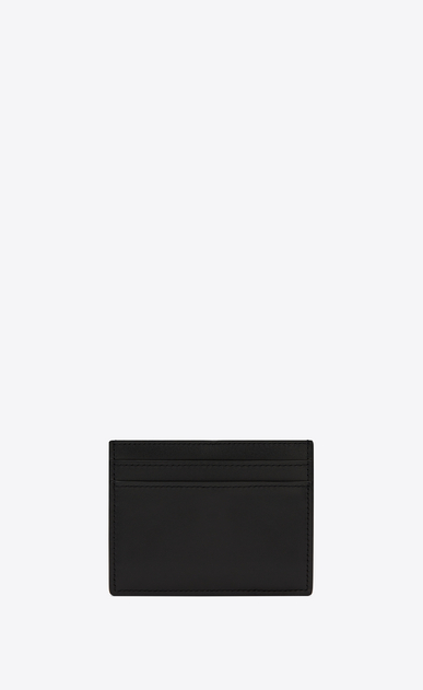SAINT LAURENT SLP animation Man Smoking Forever card case in smooth leather b_V4